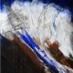 Nordkette | 2006 | 81 x 66 cm| Mischtechnik auf Karton | Alpenglühen | 2010 | 100x150cm | Acryl auf Leinwand | Privatsammlung
