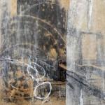 schwarz auf weiß | 2014 | 20 x 20 cm | Wachs, Acryl auf Hartfaserplatte