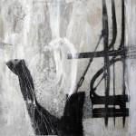 schwarz auf weiß | 20 x 20 cm | 2014 | Wachs, Acryl auf Hartfaserplatte
