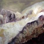 Hohe Munde | 2008 | 83 x 114 cm | Mischtechnik auf Papier | Alpenglühen | 2010 | 100x150cm | Acryl auf Leinwand | Privatsammlung