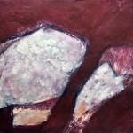 KK Abstraktion | 2008 | 74 x 81 cm | Mischtechnik auf Papier | Alpenglühen | 2010 | 100x150cm | Acryl auf Leinwand | Privatsammlung