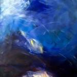 Gewitter in den Bergen | 2007 | 20 x 105 cm | Acryl auf Leinwand auf Holz | Alpenglühen | 2010 | 100x150cm | Acryl auf Leinwand | Privatsammlung