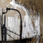 schwarz auf weiß | 2014 | 20 x 20 cm | Wachs, Acryl auf Hartfaserplatte | Privatsammlung