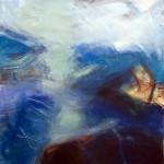Lichtblick | 2008 | 81 x 76 cm | Mischtechnik auf Papier | Alpenglühen | 2010 | 100x150cm | Acryl auf Leinwand | Privatsammlung