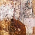 Fallen to Pieces, 2011, 20 x 20 cm, Wachs und Rost auf OSB Platte