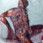 Rot - Inside out | 2014 | 100 x 90 cm Mischtechnik auf Leinwand