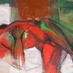 Männlicher Akt | 2007 | 75 x 120cm | Mischtechnik auf Leinwand
