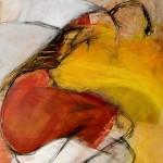 Weiblicher Akt | 2007 | 100 x 80 cm | Mischtechnik auf Leinwand | Alpenglühen | 2010 | 100x150cm | Acryl auf Leinwand | Privatsammlung