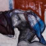 Männlicher Akt | 2007 | 45 x 64 cm | Acryl auf Papier
