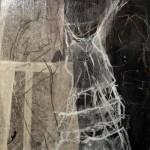 weiß auf schwarz | 2014 | 30 x 30 cm | Collage, Wachs auf Holzkörper