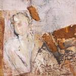 Fallen to Pieces | 2011 | 20 x 20 cm | Wachs und Rost auf OSB Platte | Alpenglühen | 2010 | 100x150cm | Acryl auf Leinwand | Privatsammlung
