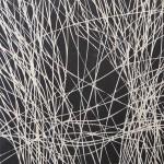 Liniengespinst | 2010 | 20 x 20 cm | Tusche auf Lindenholz