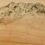 NK6 | 40 x 200 | Bleistift Collage auf Holzkörper