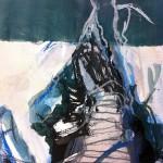 Stairs to Heaven | 2013 | 25 cm x 18 cm | Mischtechnik auf Papier