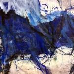 blaues Pferd | 2015 | Mischtechnik auf Papier