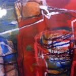 das Wasserglas | 2013 | 25 cm x 18 cm | Mischtechnik auf Papier