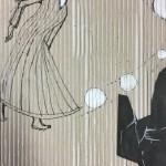 | Zeichnung | Collage auf Wellpappe