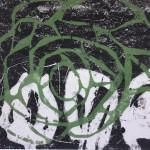 14 o.T. | 2019 | 42 x 60 cm |Linolschnitt: Monotypie auf Papier