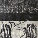 20 o.T. | 2019 | 46 x 43 cm | Monotypie auf Chinapapier